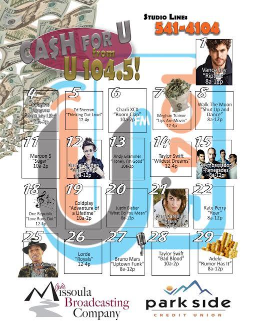 April Cash Calendar