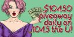 Win cash every day on U!